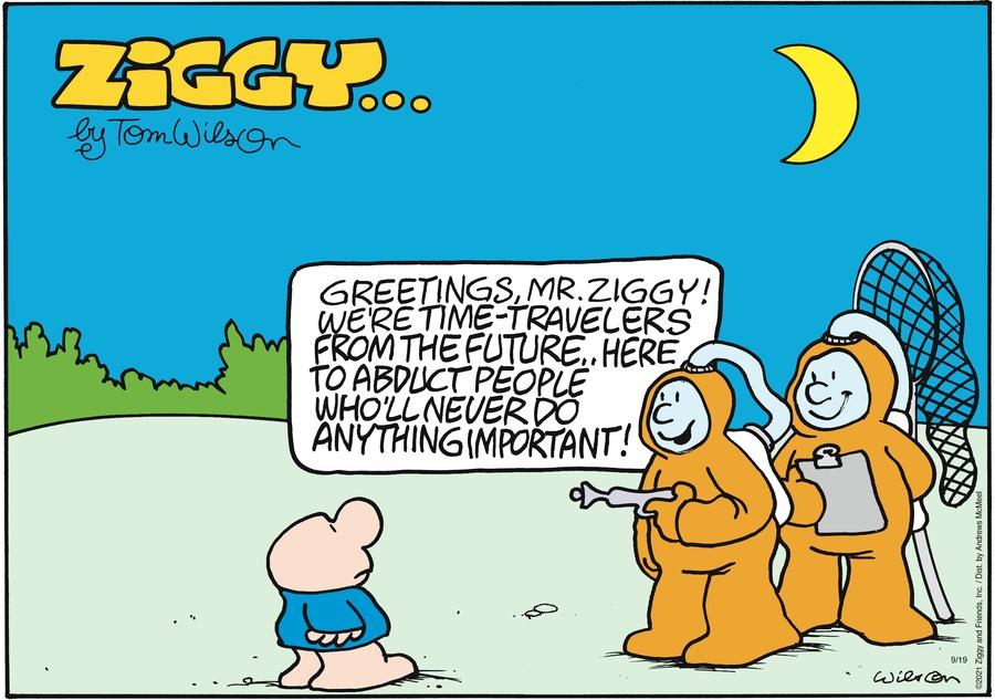 Ziggy Comic Strip for September 19, 2021