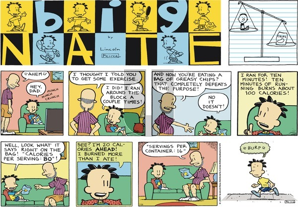 Big Nate on Sunday July 29, 2018 Comic Strip