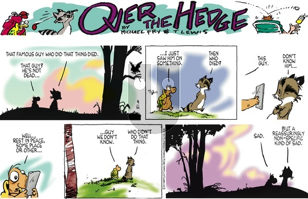 Over the Hedge on Sunday April 21, 2019 Comic Strip