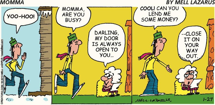 Momma for Jan 27, 2013 Comic Strip