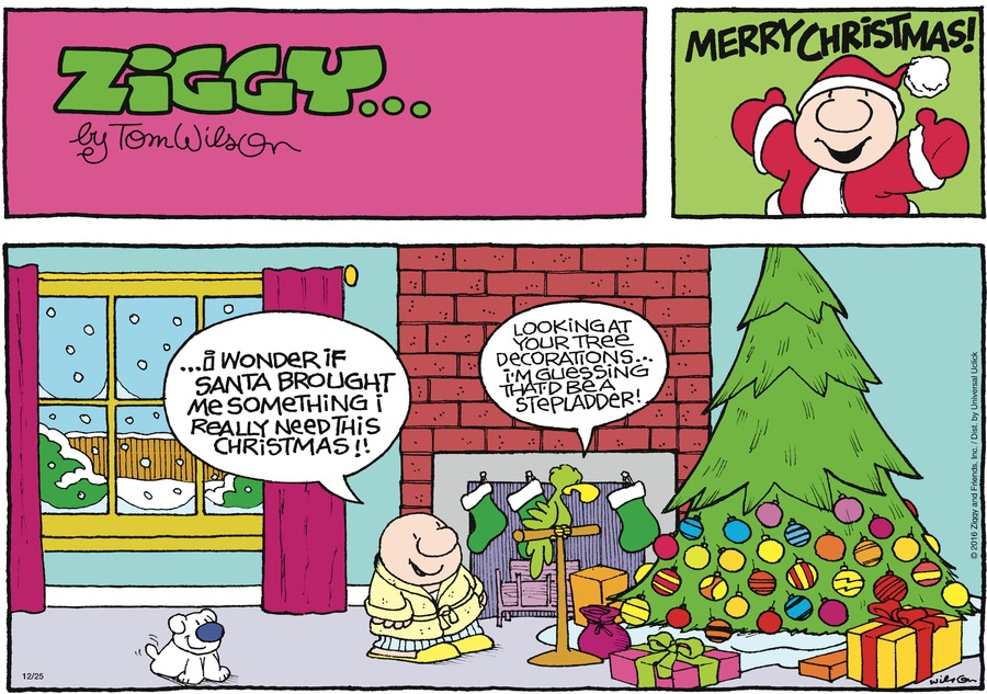 Ziggy Comic Strip for December 25, 2016