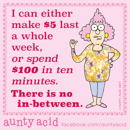 Aunty Acid Comic Strip for November 19, 2019