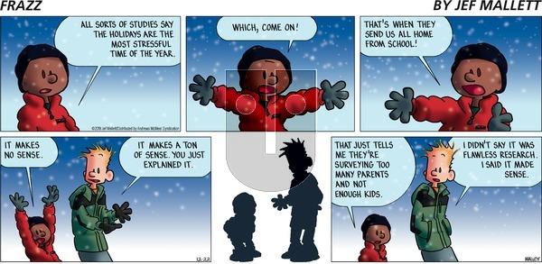 Frazz on Sunday December 22, 2019 Comic Strip