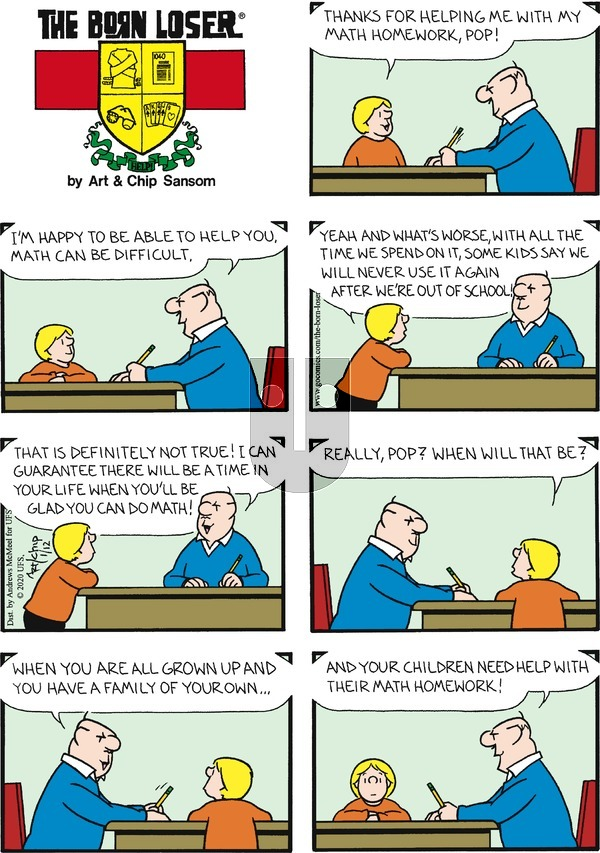 The Born Loser on Sunday January 12, 2020 Comic Strip