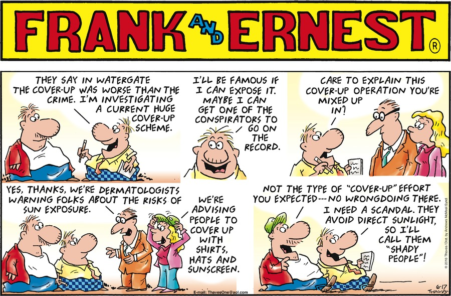 Frank and Ernest Comic Strip for June 17, 2018