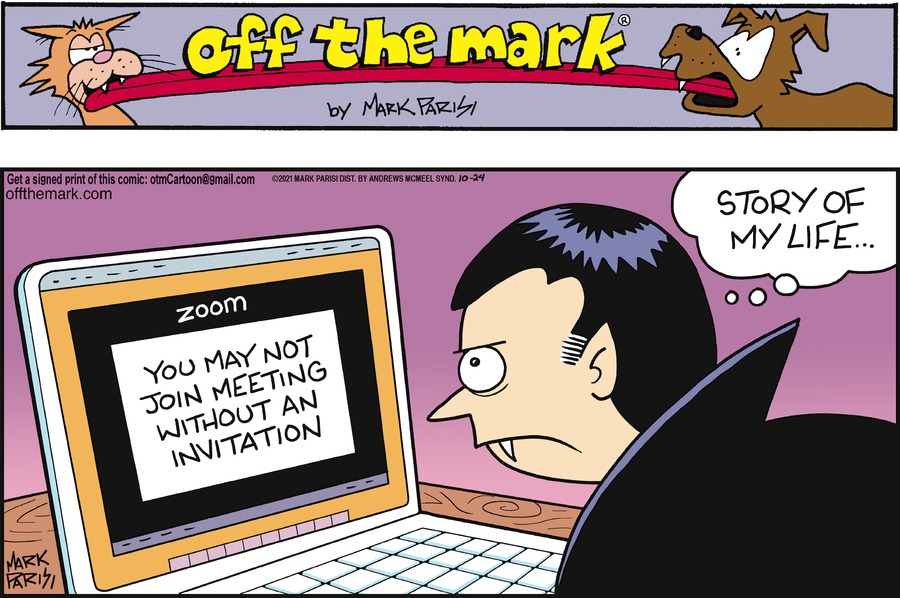 Off the Mark by Mark Parisi on Sun, 24 Oct 2021