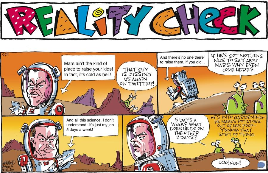 Reality Check Comic Strip for May 23, 2021