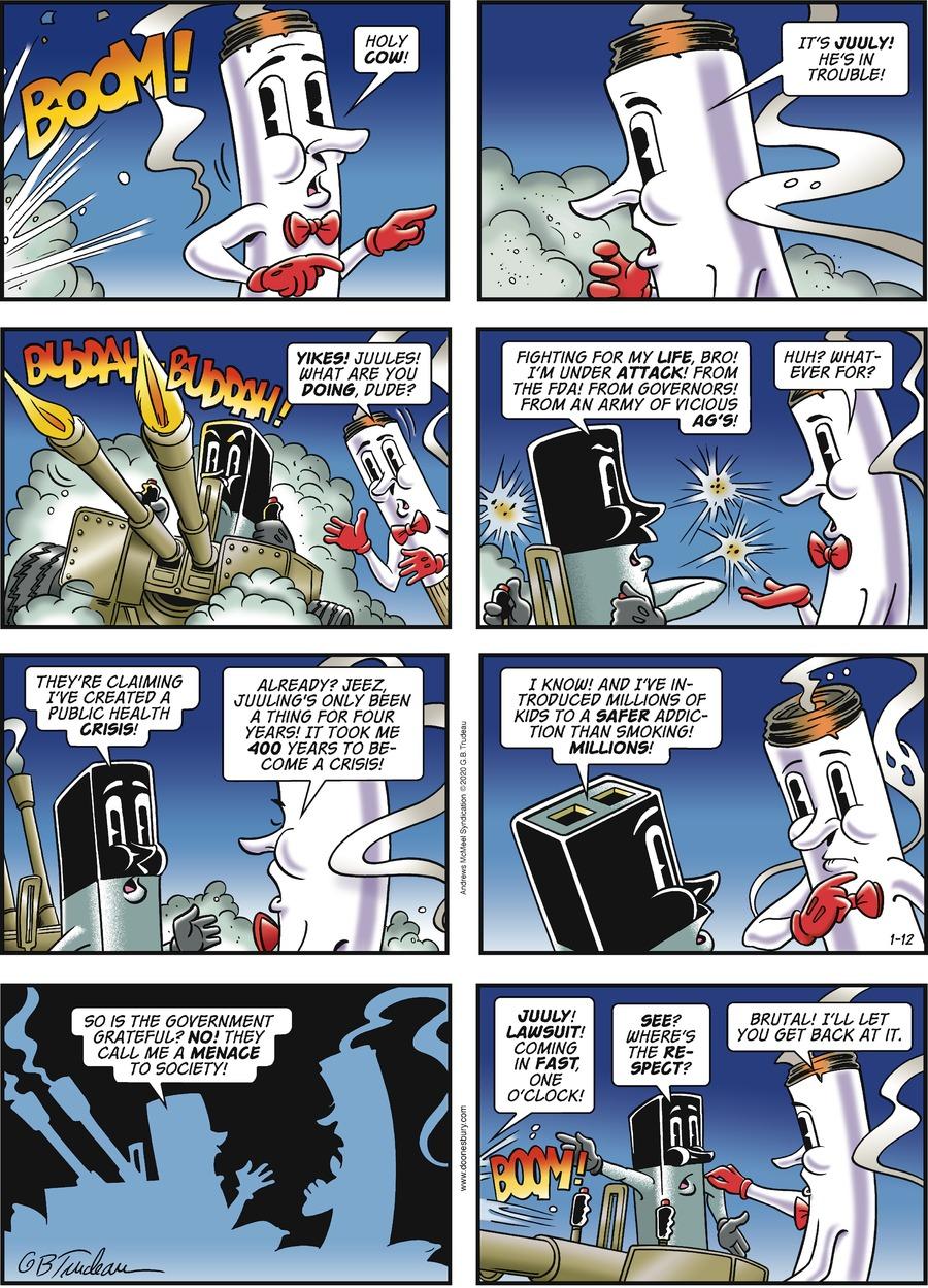 Doonesbury Comic Strip for January 12, 2020