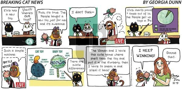 Breaking Cat News on Sunday November 4, 2018 Comic Strip