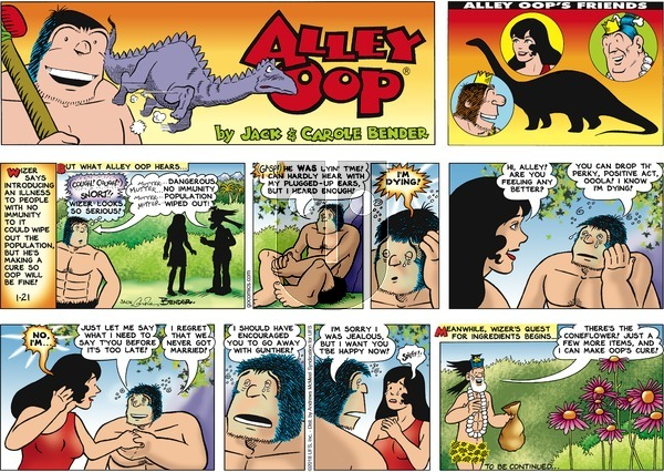 Alley Oop on Sunday January 21, 2018 Comic Strip