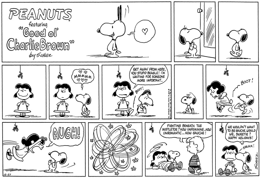 Peanuts Comic Strip for December 27, 1970