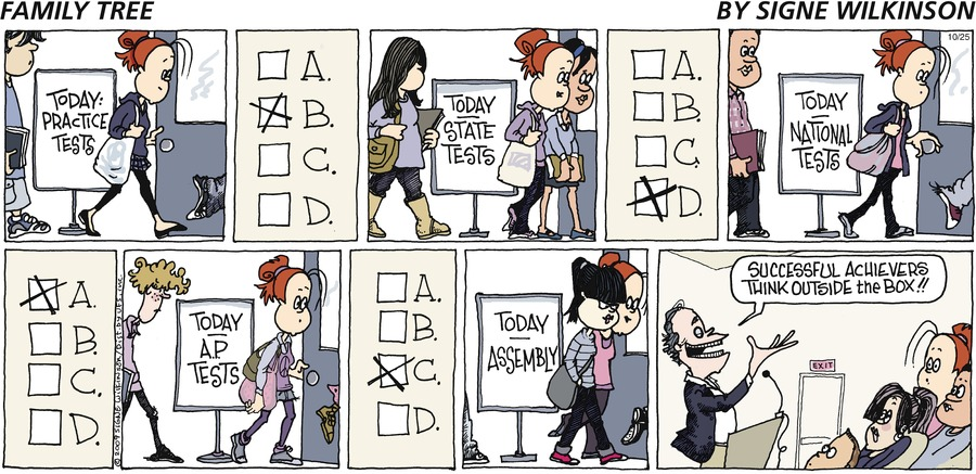 Family Tree Comic Strip for October 25, 2009