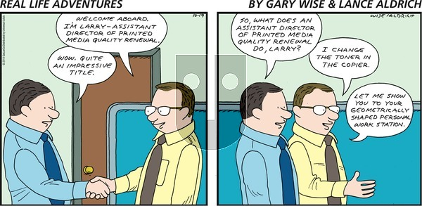 Real Life Adventures on Sunday October 19, 2014 Comic Strip