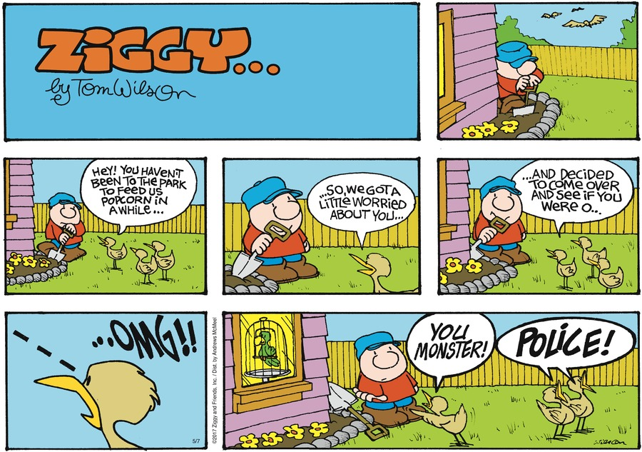 Ziggy Comic Strip for May 07, 2017