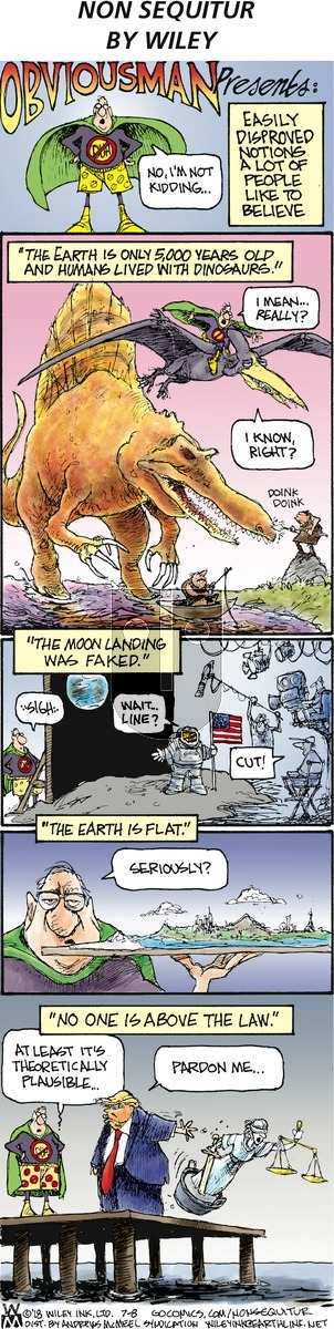 Non Sequitur on July 8, 2018 Comic Strip