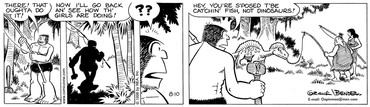 Alley Oop for Aug 10, 1998 Comic Strip