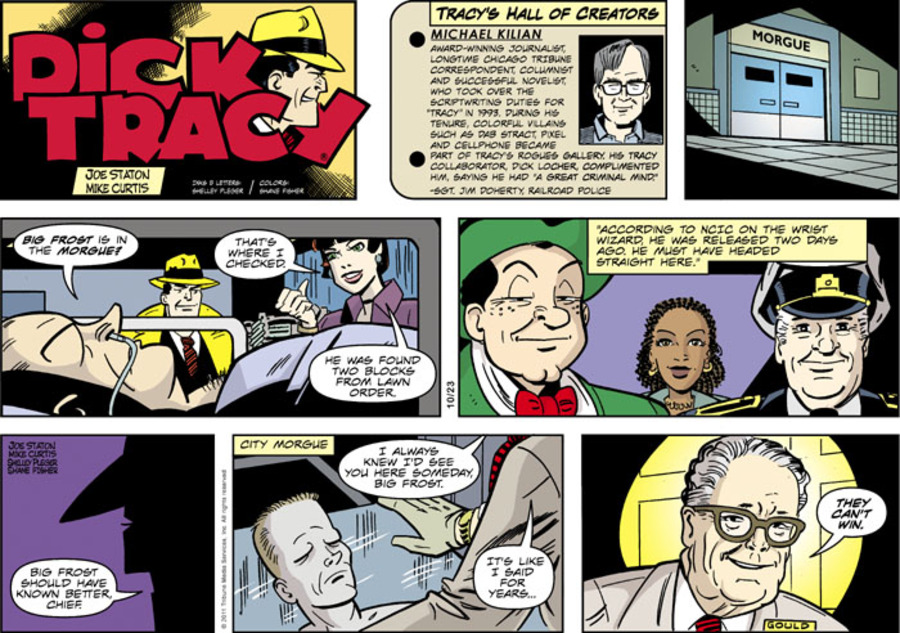 Dick Tracy Comic Strip for October 23, 2011