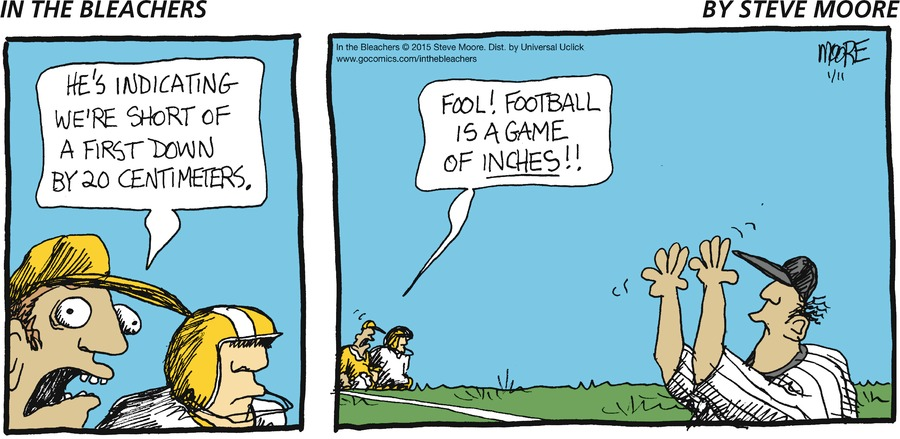 In the Bleachers Comic Strip for January 11, 2015