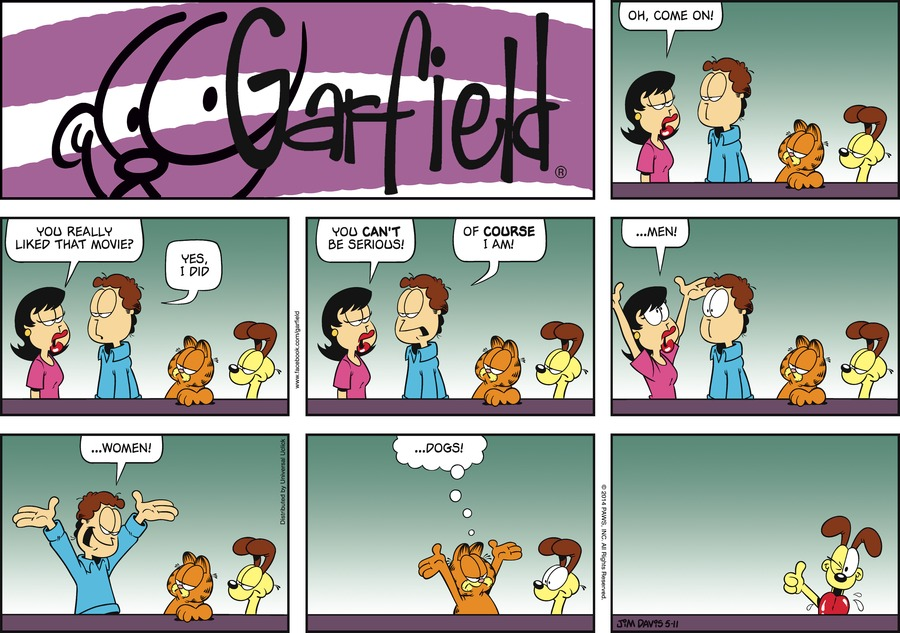 Garfield for May 11, 2014 Comic Strip