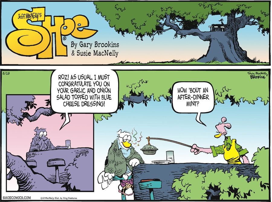 Shoe Comic Strip for August 19, 2018