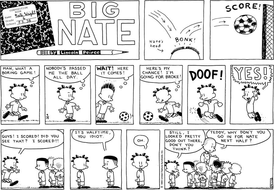Big Nate Comic Strip for September 19, 1993