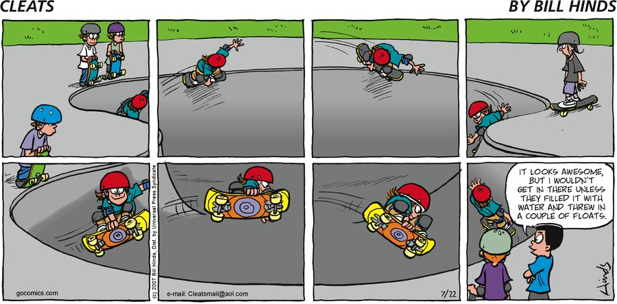 Cleats Comic Strip for July 22, 2007