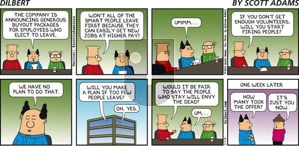 Dilbert on Sunday July 7, 2019 Comic Strip