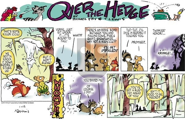 Over the Hedge on Sunday January 17, 2021 Comic Strip