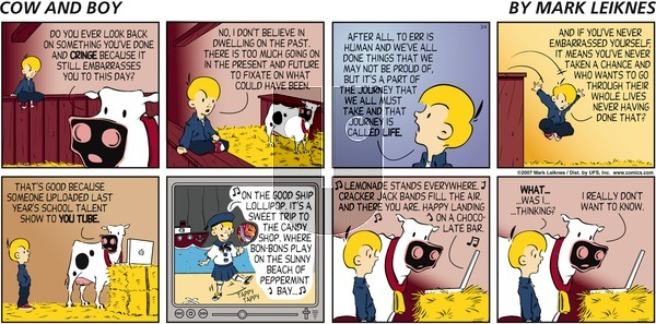 Cow and Boy Classics on Sunday March 4, 2007 Comic Strip