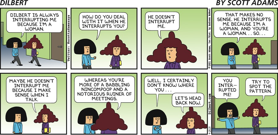 Dilbert Interrupts Women - Dilbert by Scott Adams