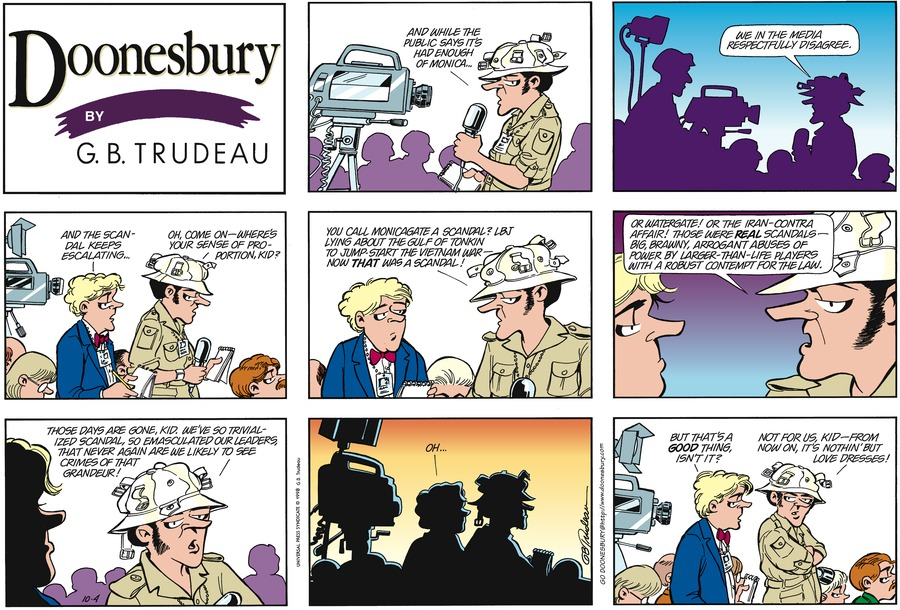 Doonesbury for Oct 4, 1998 Comic Strip