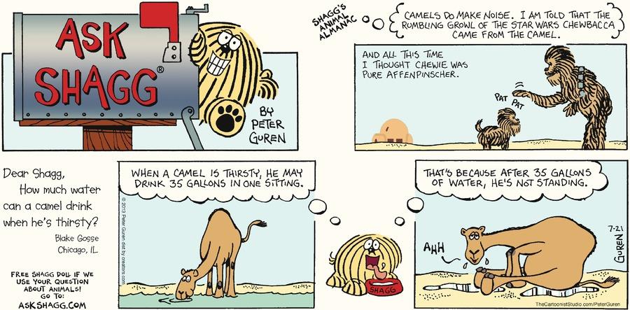 Ask Shagg for Jul 21, 2013 Comic Strip