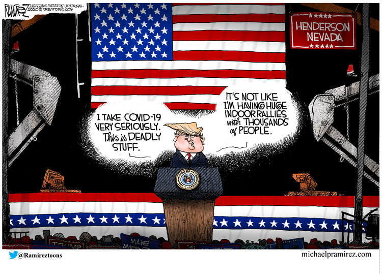 Michael Ramirez Comic Strip for September 16, 2020