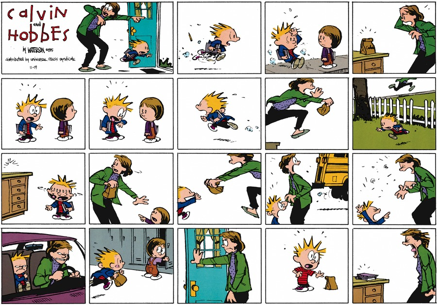 Calvin and Hobbes Comic Strip for November 19, 1995