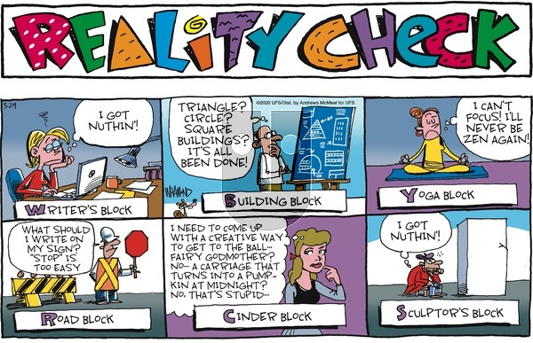 Reality Check - Sunday March 29, 2020 Comic Strip
