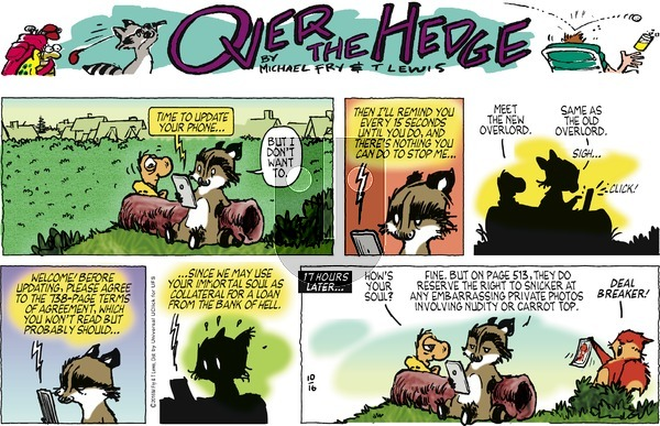 Over the Hedge on Sunday October 16, 2016 Comic Strip