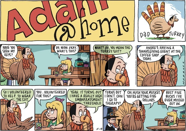 Adam@Home on Sunday November 17, 2019 Comic Strip