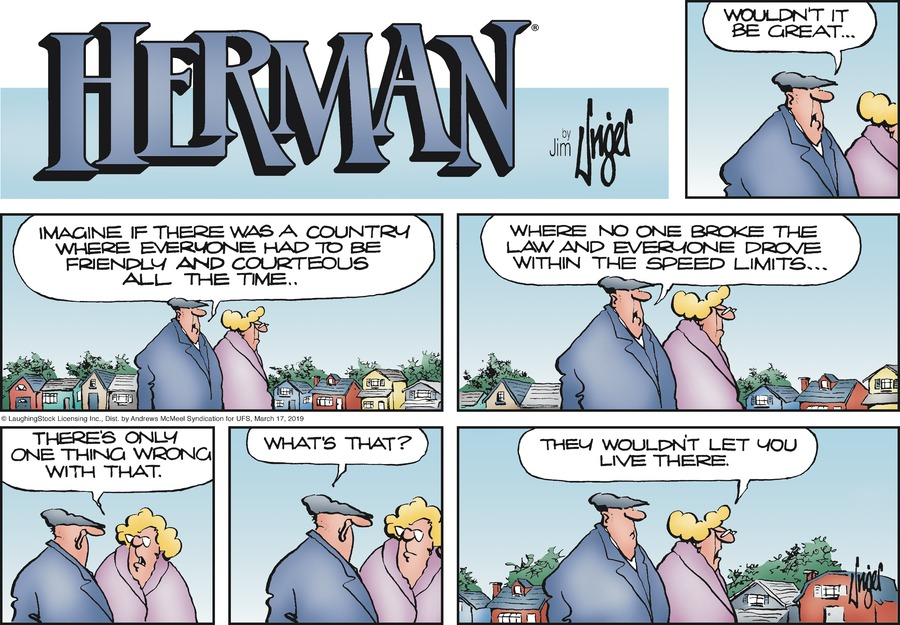 Herman by Jim Unger for March 17, 2019
