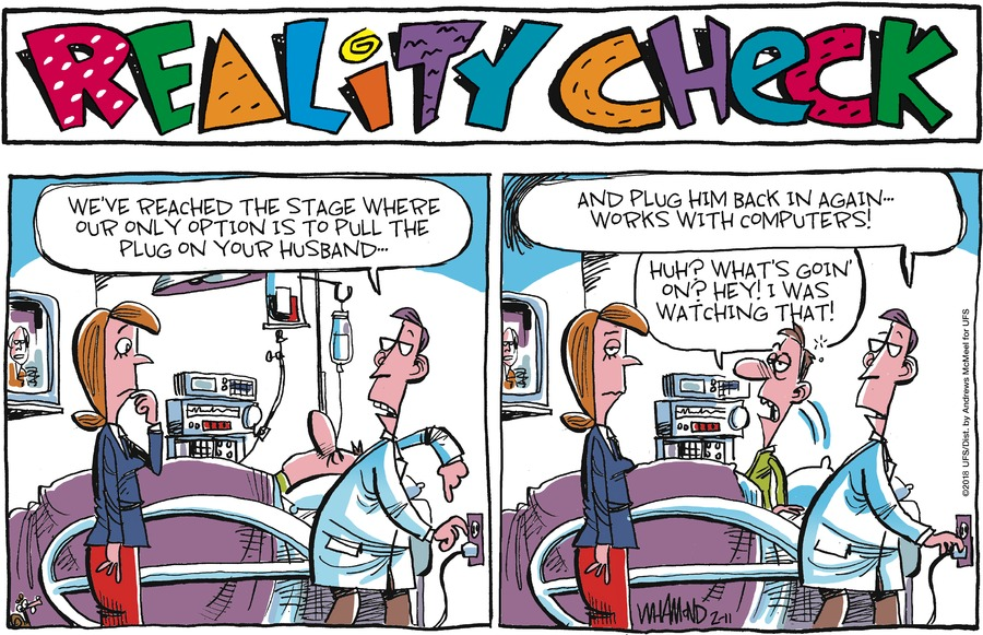 Reality Check for Feb 11, 2018 Comic Strip