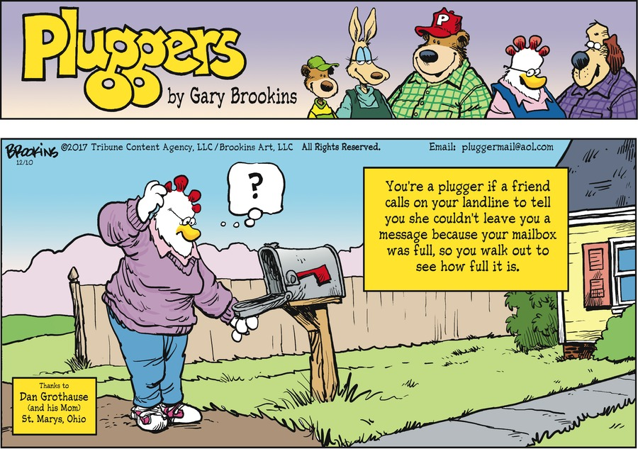 Pluggers Comic Strip for December 10, 2017