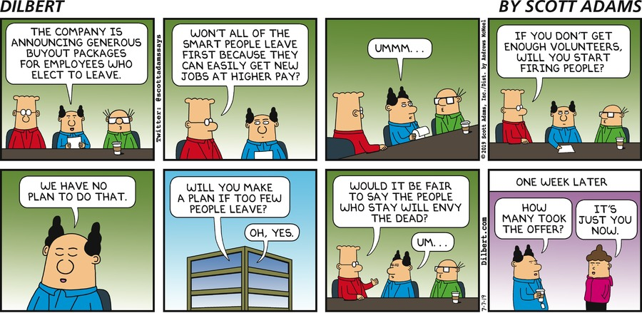 Layoff Package - Dilbert by Scott Adams