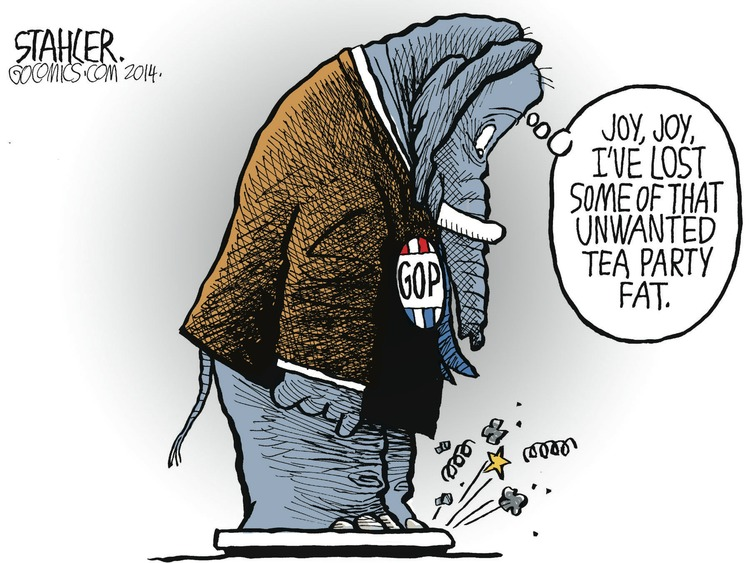 Republican: Joy, joy, I've lost some of that unwanted Tea Party fat.