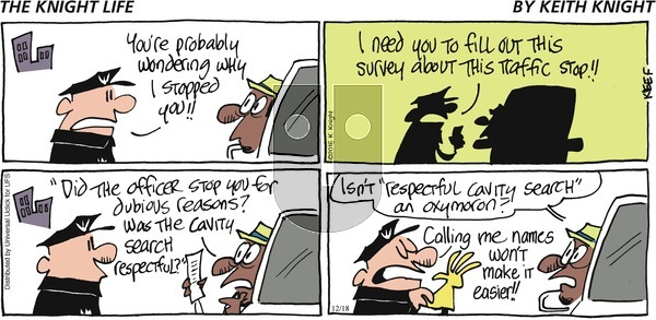The Knight Life on Sunday December 18, 2016 Comic Strip