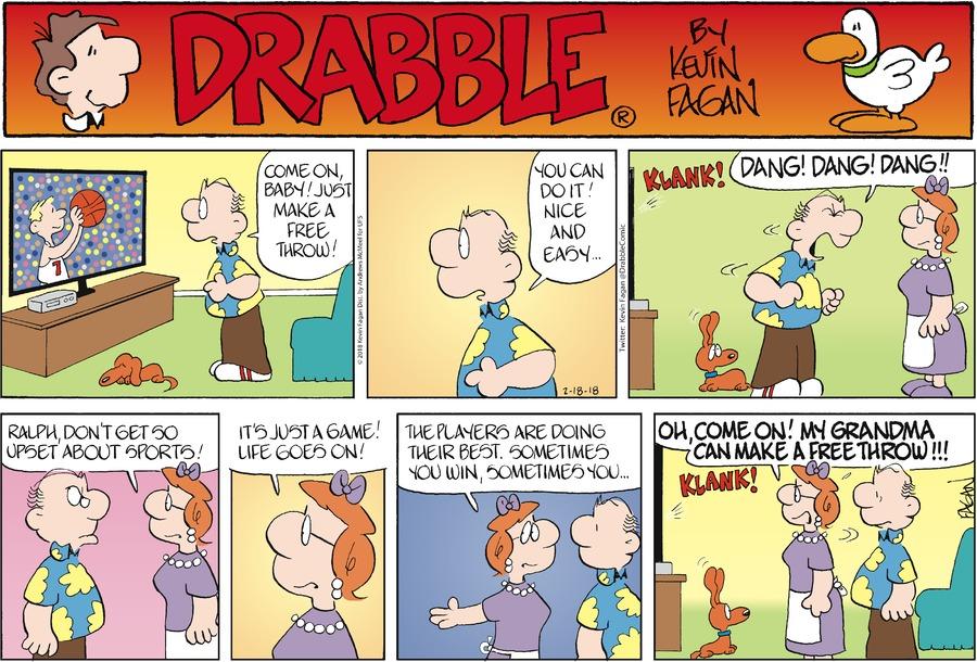 Drabble for Feb 18, 2018 Comic Strip