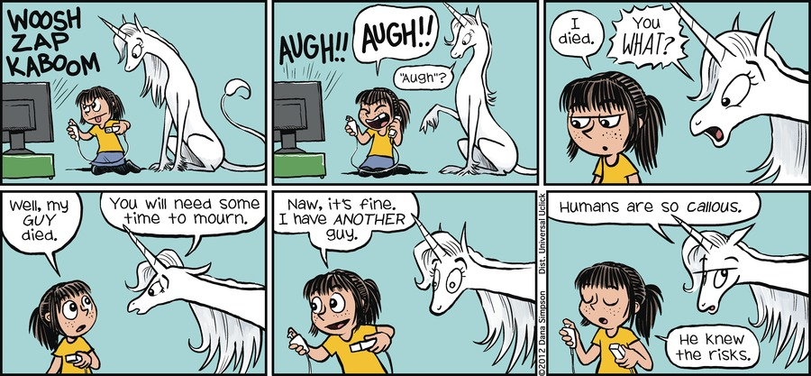 Phoebe and Her Unicorn for May 13, 2012 Comic Strip