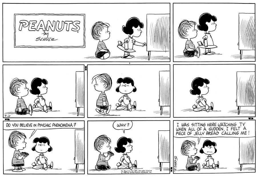 Peanuts Comic Strip for July 11, 1965