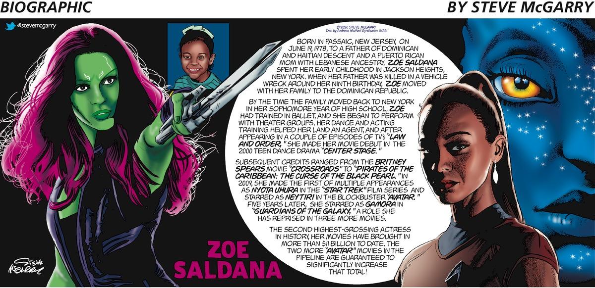 Biographic Comic Strip for November 22, 2020