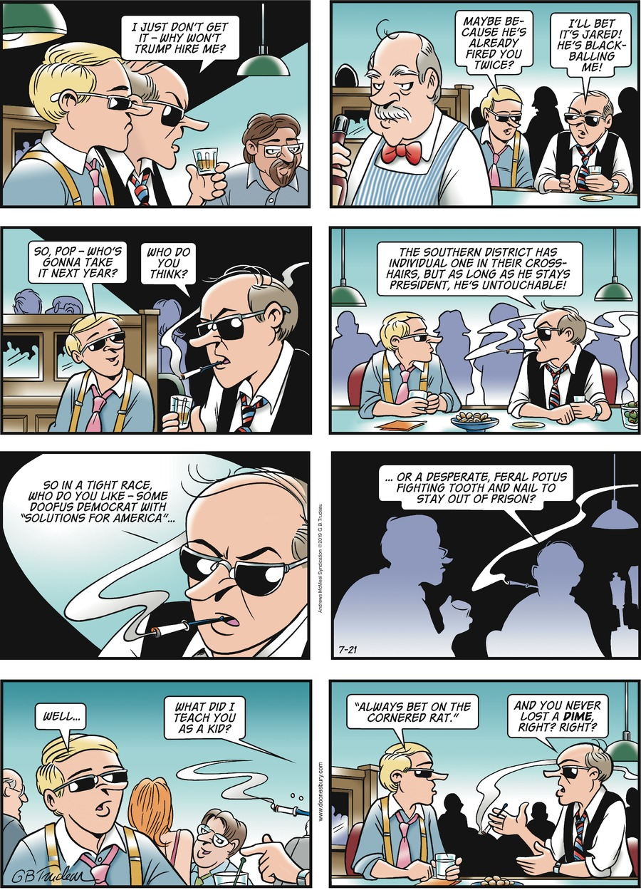 Doonesbury Comic Strip for July 21, 2019