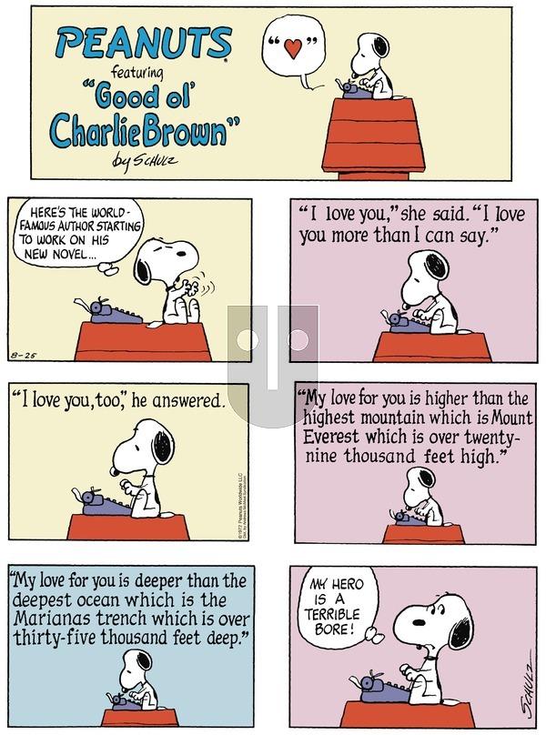Peanuts - Sunday August 25, 2019 Comic Strip