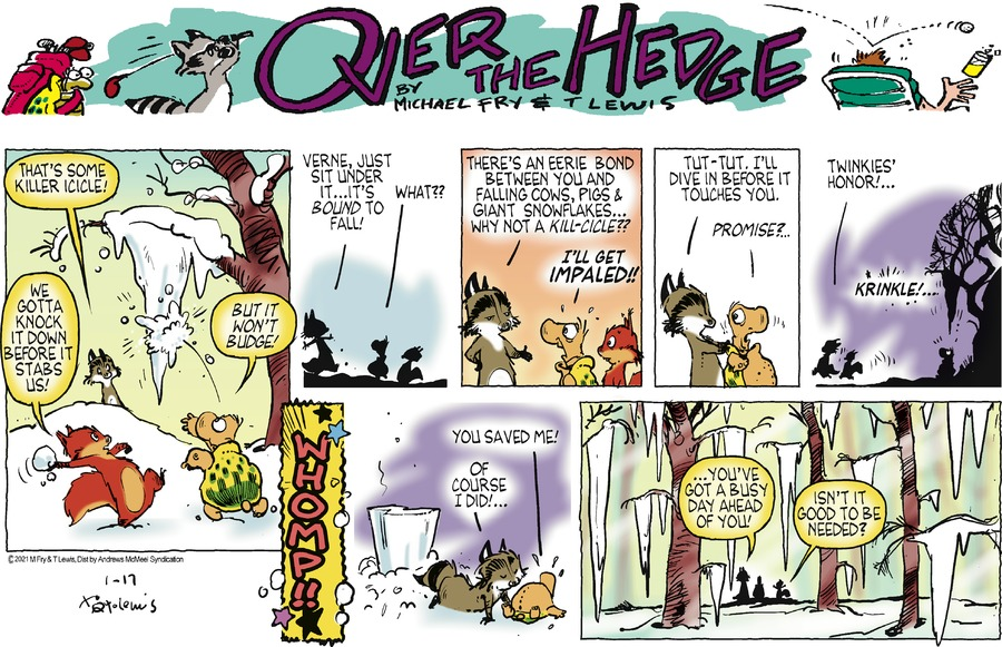 Over the Hedge Comic Strip for January 17, 2021